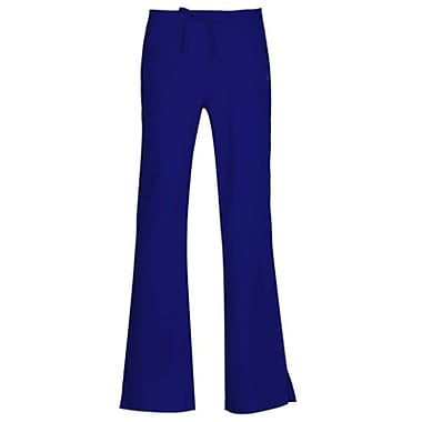 Gravity 9203 Sporty Back Elastic Front Drawstring Flare Pant, Galactic Blue, Regular S