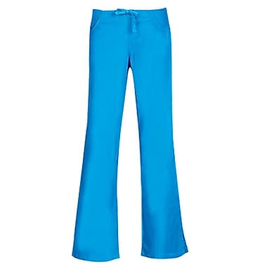 Maevn Core 9026 Drawstring & Back Elastic Flare Pants, Malibu Blue