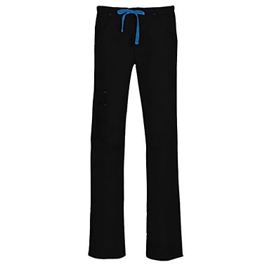 Blossom 9302P Triple Pintuck Multi-Pocket Utility Pant, Black, Petite L