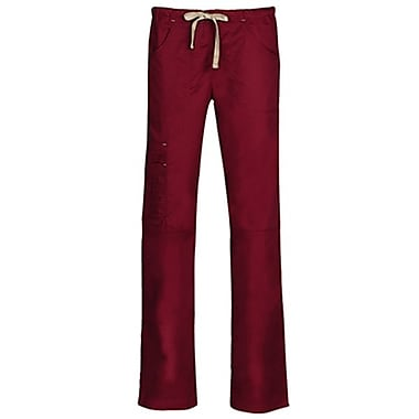 Blossom 9302P Triple Pintuck Multi-Pocket Utility Pant, Wine, Petite XL