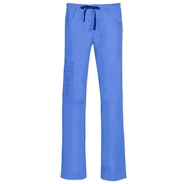 Blossom 9302 Triple Pintuck Multi-Pocket Utility Pant, Ceil Blue, Regular XS