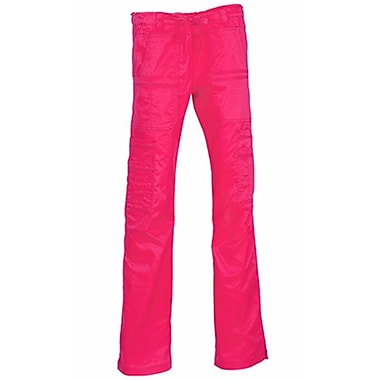 Maevn Blossom 9602T Multi-Pocket Utility Cargo Pants, Passion Pink