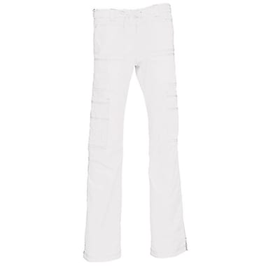 Blossom 9602T Multi-Pocket Utility Cargo Pant, White, Tall L
