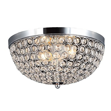 All the Rages Elegant Designs FM1000-CHR Crystal Flush Mount Ceiling Light