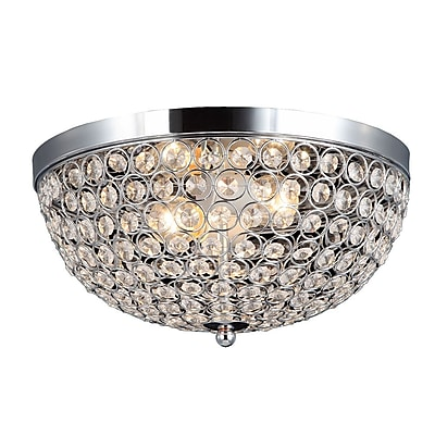 All the Rages Elegant Designs FM1000-CHR Crystal Flush Mount Ceiling Light