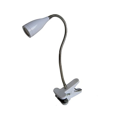 All the Rages Limelights LD2005-WHT Gooseneck LED Clip Light, White