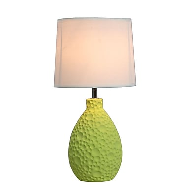 All the Rages Simple Designs LT2003-GRN Texturized Table Lamp, Green