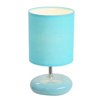 All the Rages Simple Designs LT2005-BLU Stonies Table Lamp, Blue