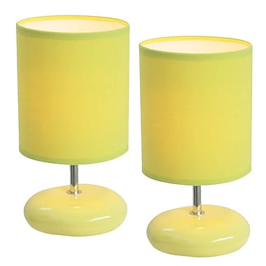 All the Rages Simple Designs LT2005-GRN-2PK Stonies Lamp, Green, 2/Pack