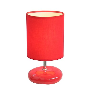 All the Rages Simple Designs LT2005-RED Stonies Table Lamp, Red
