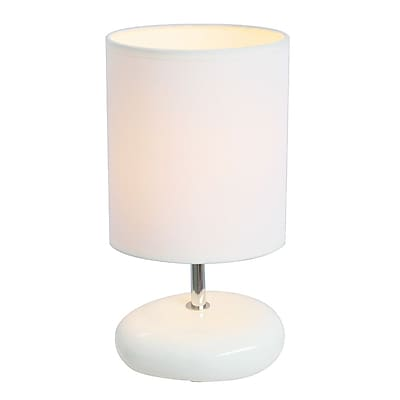 All the Rages Simple Designs LT2005-WHT Stonies Table Lamp, White