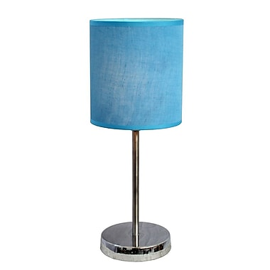 All the Rages Simple Designs LT2007-BLU Chrome Table Lamp Shade, Blue