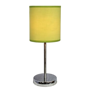 All the Rages Simple Designs LT2007-GRN Chrome Table Lamp Shade, Green