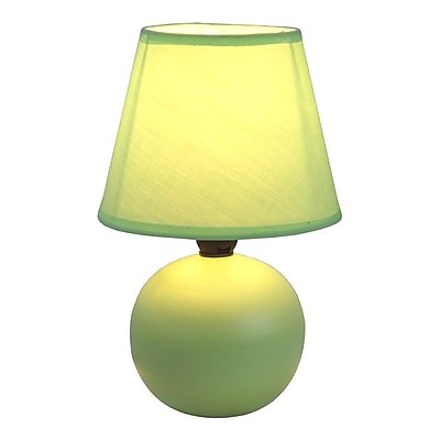 All the Rages Simple Designs LT2008-GRN Ceramic Globe Table Lamp, Green