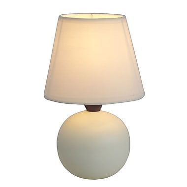 All the Rages Simple Designs LT2008-OFF Ceramic Globe Table Lamp, Off White