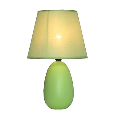 All the Rages Simple Designs LT2009-GRN Oval Ceramic Table Lamp, Green