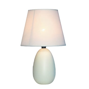 All the Rages Simple Designs LT2009-OFF Oval Ceramic Table Lamp, Off White