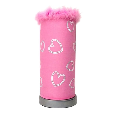 All the Rages Limelights LT3009-PNK Puff Table Lamp, Pink