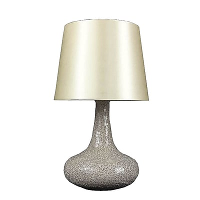 All the Rages Simple Designs LT3039-CHA Mosaic Genie Table Lamp, Champagne
