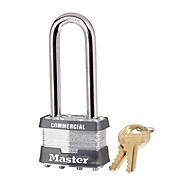 "Master Lock® 4 Pin Keyed Alike Laminated Padlock With 2 1/2"" Shackle, 6/Box"