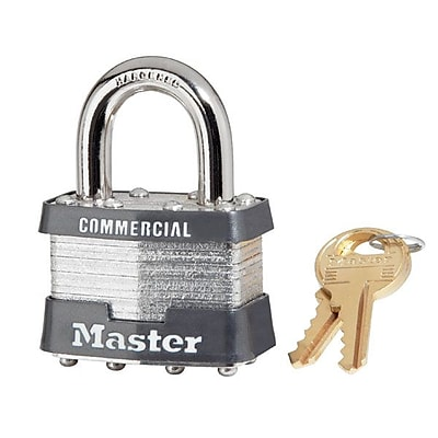 Master Lock® 5 Pin Keyed Alike Laminated Padlock With 0.9375