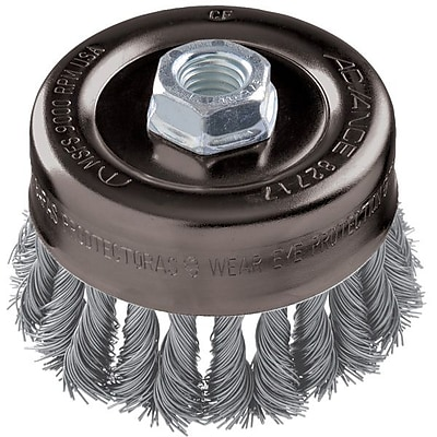 """""Advance Brush 4"""""""" Standard Twist Knot Wire Cup Brush"""""" 1161719"