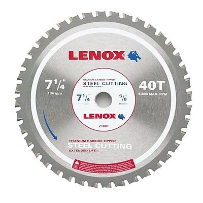 Lenox® 21881 Metal Cutting Circular Saw Blade, 40 TPI
