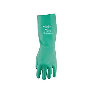 Showa Best Glove® Nitri-Solve® Chemical Resistant Gloves, Green, Size 10