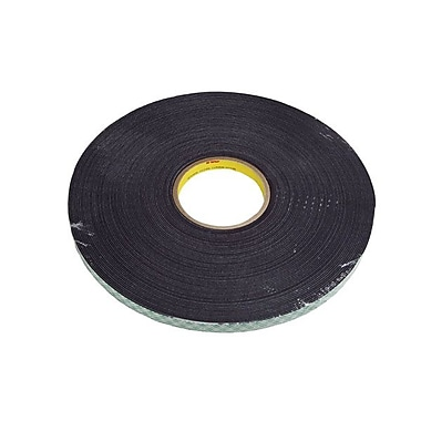 3M™ 14619 Double Coated Urethane Foam Tape, Black, 0.75