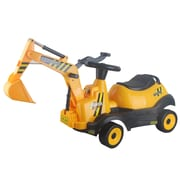 Vroom Rider 6V Ride-on 4-Wheel Excavator Battery Powered Construction Vehicle