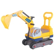 Vroom Rider Ride-on 6-Wheel Excavator On Wheels w/ Back Construction Vehicle