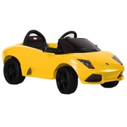 Vroom Rider Lamborghini Murci lago LP 640-4 Rastar 6V Battery Powered Car; Yellow