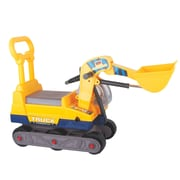 Vroom Rider Ride-on 6-Wheel Bulldozer w/ Back Construction Vehicle