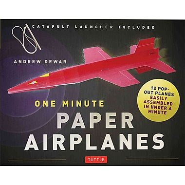 One Minute Paper Airplanes Kit: 12 Pop-Out Planes, Easily Assembled in Under a Minute