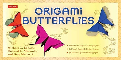 Origami Butterflies Kit: [Boxed Kit with 98 Folding Papers & 2 Full-Color Booklets]