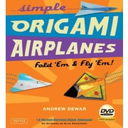 Simple Origami Airplanes Kit: Fold 'Em & Fly 'Em! [Boxed Kit with 56 Folding Papers, Full-Color Book & DVD]
