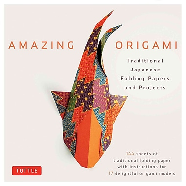 Amazing Origami Kit: Traditional Japanese Folding Papers and Projects [Boxed Kit with 144 Folding Papers & Full-Color Book]
