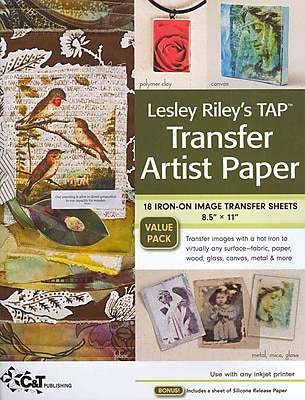 Lesley Riley's TAP Transfer Artist Paper 18-Sheet Pack: 18 iron-on image Transfer Sheets 8.5 x 11