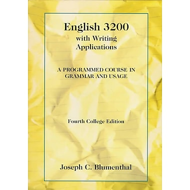English 3200 with Writing Applications: A Programmed Course in Grammar and Usage (College Series)