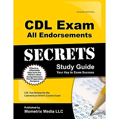 CDL Test Review for the Commercial Driver's License Exam,ISBN -10: 1609712927