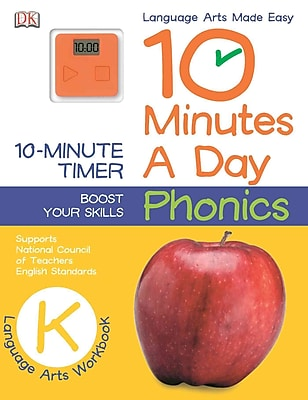 10 Minutes a Day: Phonics, Kindergarten (Language Arts Made Easy)