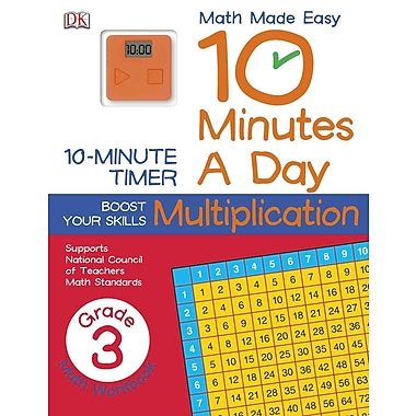 10 Minutes a Day: Multiplication, Third Grade (Math Made Easy)