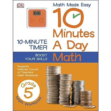 10 Minutes a Day: Math, Fifth Grade (Math Made Easy: 10 Minutes a Day)