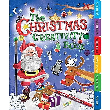 The Christmas Creativity Book: Includes Games, Cut-Outs, Fold-Out Scenes, Textures, Stickers, and Stencils