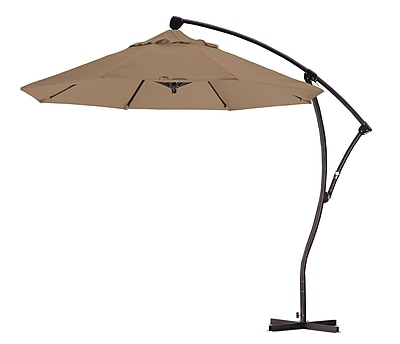 California Umbrella 9' Cantilever Umbrella; Straw WYF078276992139