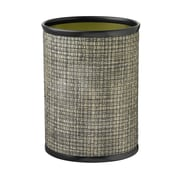 Kraftware Woven 3.25 Gallon Waste Basket; Onyx