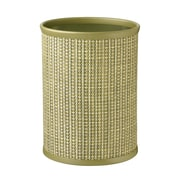 Kraftware Woven 3.25 Gallon Plastic Trash Can; Verde