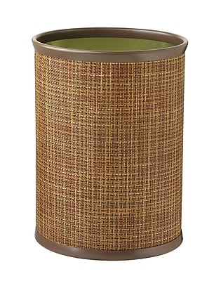 Kraftware Woven 3.25 Gallon Waste Basket; Sienna