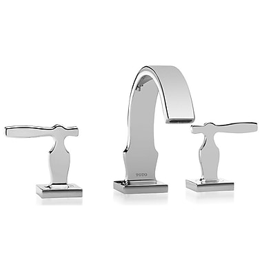 Toto Aimes Double Handle Widespread Bathroom Faucet; Brushed Nickel
