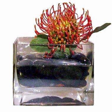 Creative Branch Faux Protea in Glass Vase
